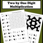 2 By 1 Digit Multiplication Color Worksheet