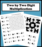 2 By 2 Digit Multiplication Color Worksheet