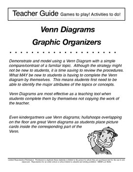 2 Circle Traditional Venn Diagram - Graphic Organizer