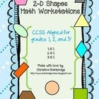 2-D Shapes Math Centers