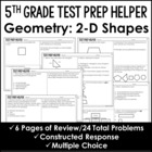 2-D Shapes Problems 5.G.3 and 5.G.4 {Common Core Test Prep