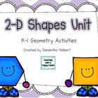 2-D Shapes Unit (15 K-1 Geometry Activities)