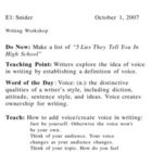 2-Day Lesson on Voice