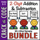 2-Digit Addition & Subtraction Practice ~ Crack the Code Bundled!