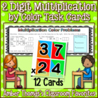 2 Digit Multiplication by Color Task Cards