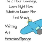 2 Hour Substitute Lesson Plan, First Grade, Set 3 Writing/Art