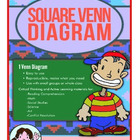 2 Square Venn Diagram - Graphic Organizer and Lesson Plan