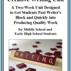 2-Week Creative Writing Unit - Steps to Produce Quality Work