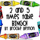 2 and 5 Times Table BINGO!