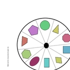 2-d Shape Spin and Graph Game--10 shapes