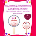 20 Common Core Valentine&#039;s Day Writing Prompts