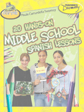 20 Hands-On Middle School Spanish Lessons eBook