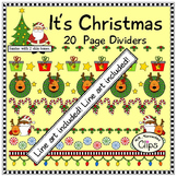 "20 ""It's Christmas"" Page Dividers"