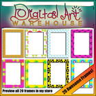 Clip Art: 20 Awesome Bright Frames