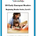 20 Phonics Early Emergent Readers / Level 1 Beginning Read