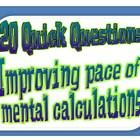 20 Quick Questions No. 5 -   Multiplying and dividing by 1