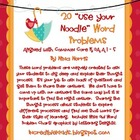 20 &quot;Use Your Noodle&quot; Word Problem Bundle
