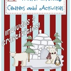 20 Winter/January themed literacy centers, craftivities, a