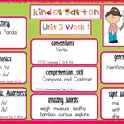 2009 Kindergarten Reading Street Unit 3 Target Skills
