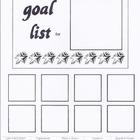 2011-2012 Keeping the Classroom Creative Goal Sheet and Organizer