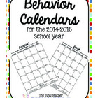 2012-2013 Behavior Calendars