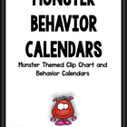 2012-2013 Monster Theme Behavior Calendars