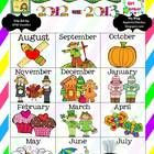 2012-2013 Monthly Teacher Calendars