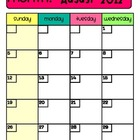 2012-2013 Planbook Calendars-Mrs. Mindy
