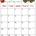 2012-2013 School Calendar from BakingCraftingTeaching