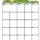 2012-2013 School Monthly Calendar