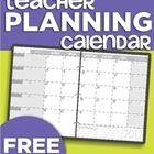 2012-2013 Teacher Planning Calendar Template