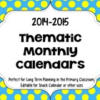 2012-2013 Thematic Calendars FOR SNACKS/ NEWSLETTERS