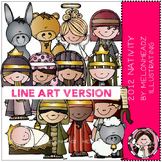 2012 Nativity LINE ART bundle by melonheadz
