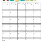 2013-2014 Behavior Calendar