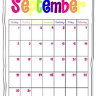 2013-2014 Colorful School Year Calendar