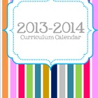 2013-2014 Editable Curriculum Planning Calendar {Moroccan