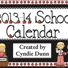 2013-2014 Planning Calendar FREEBIE