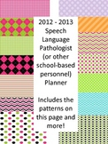 2013-2014 Speech Language Pathologist (SLP) Monthly Planner
