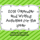 2014 Calendar and Year of Writing Prompts (Christmas Gift