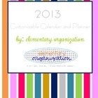 2013 Customizable Calendar and Planner