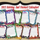 2013 Holiday Owl Calendar