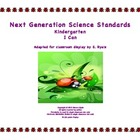 2013 &quot;I Can&quot; Kindergarten K Next Generation Science Standa