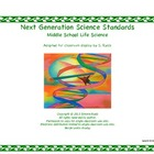 2013 Middle School MS Printable Next Generation LIFE Scien