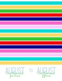 2014-2015 August to August Calendar and Planner