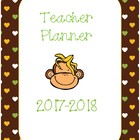 2014-2015 Teacher Planner - Monkey Theme