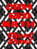 2014 GED Math Cheat Sheet
