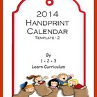 2014 Handprint Calendar - 2nd Template