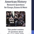 20th Century American History - 1940-1949 - Daily Research