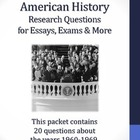 20th Century American History - 1960-1969 - 22 Research Questions