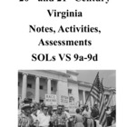 20th and 21st Century Virginia Notes and Activities: SOLs